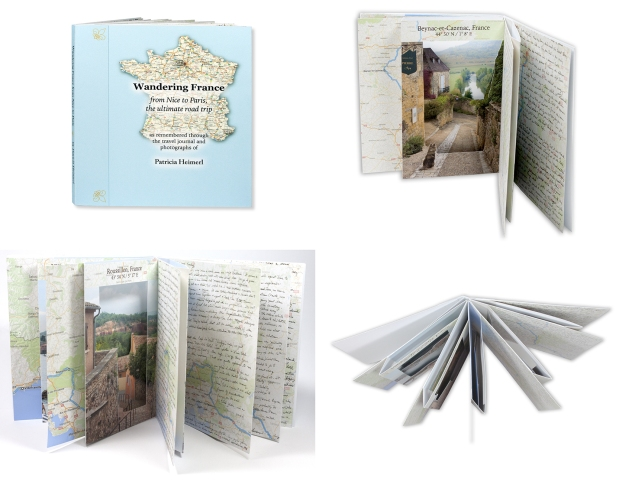 Wandering France, artist book with pop-up panels